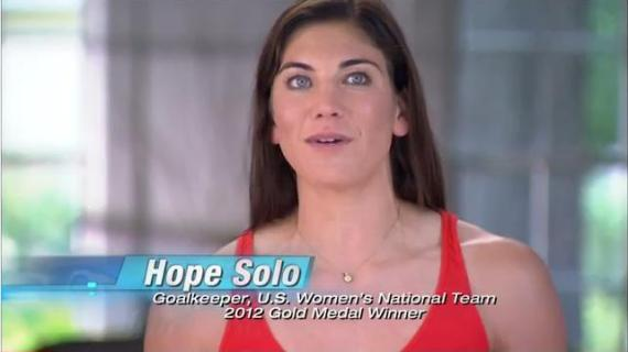 Olympic Gold Medalist Hope Solo uses Insanity: The Asylum